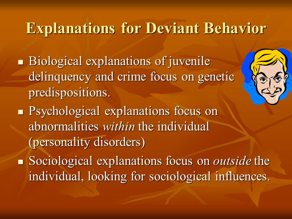 Explanations for Deviant Behavior