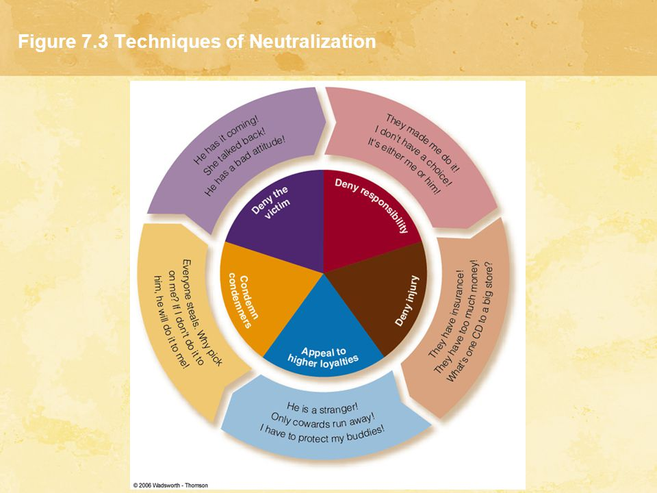 Figure 7.3 Techniques of Neutralization