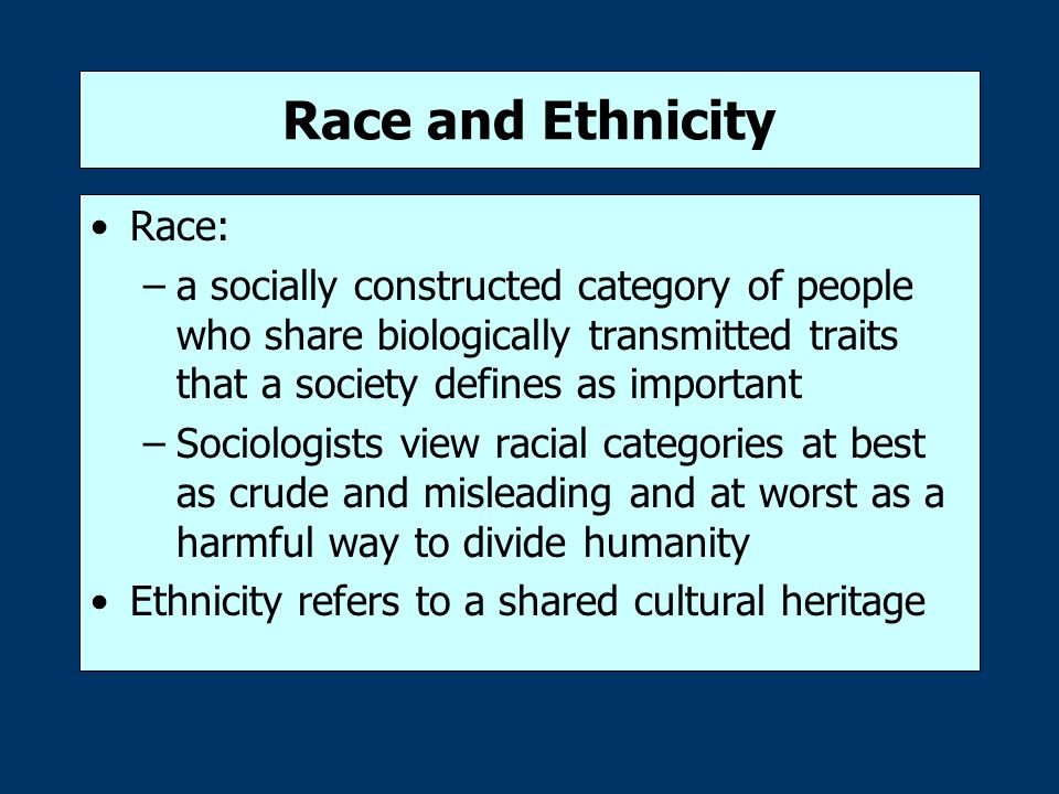 Race and Ethnicity Race: