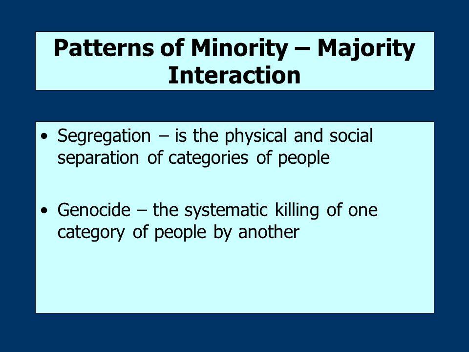 Patterns of Minority – Majority Interaction