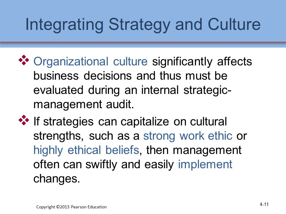 Integrating Strategy and Culture