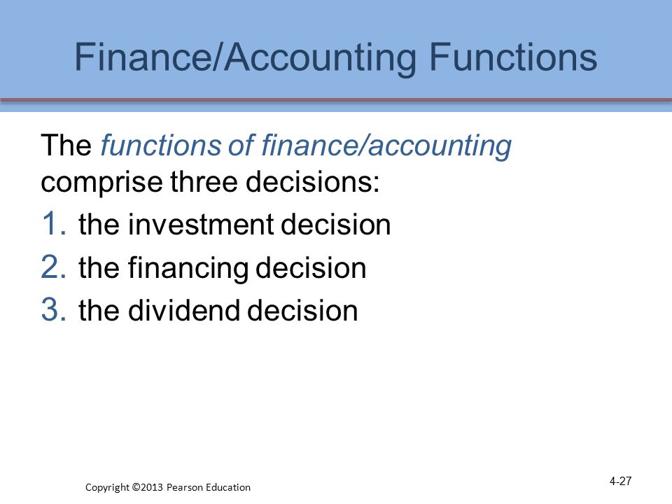 Finance/Accounting Functions