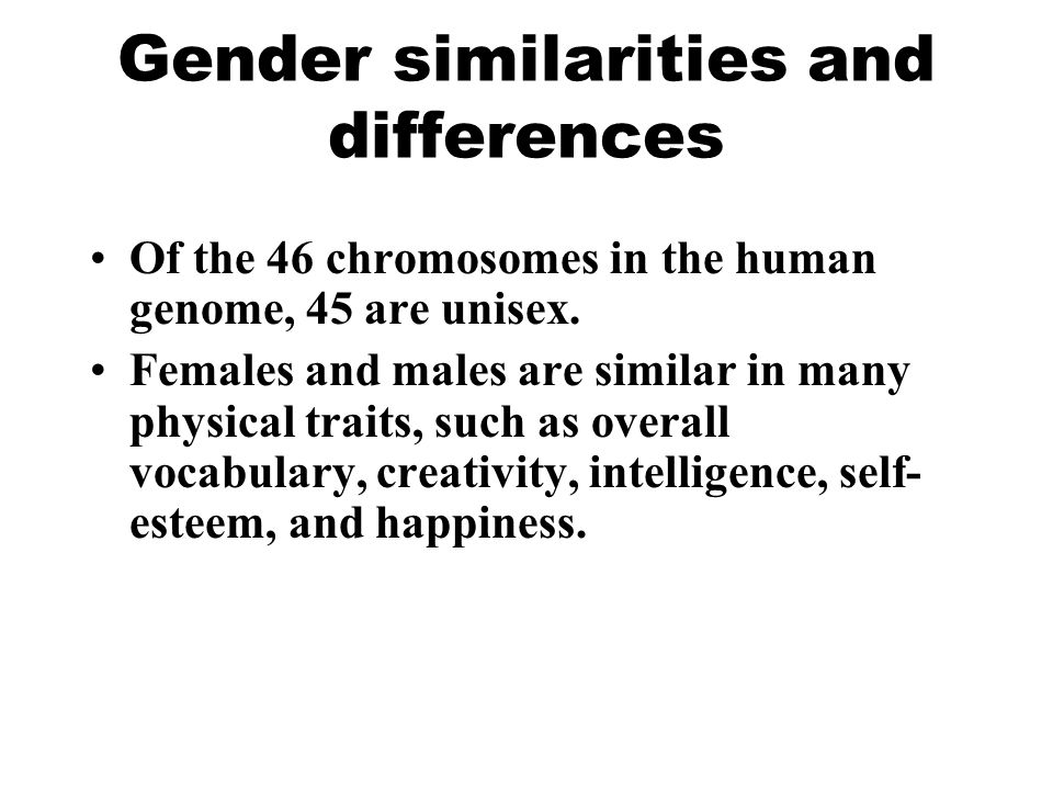 Gender similarities and differences