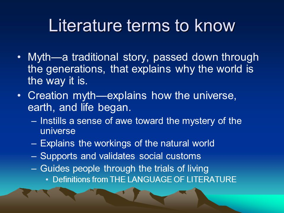 Literature terms to know