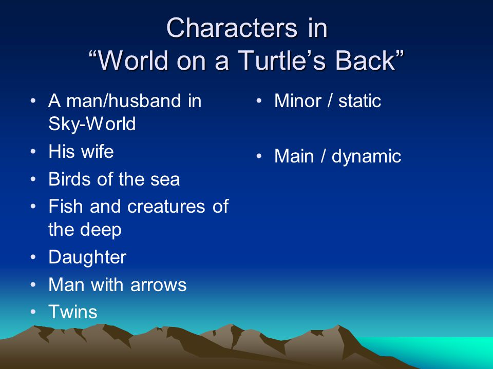Characters in World on a Turtle's Back