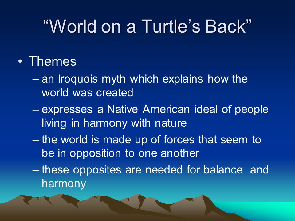 World on a Turtle's Back