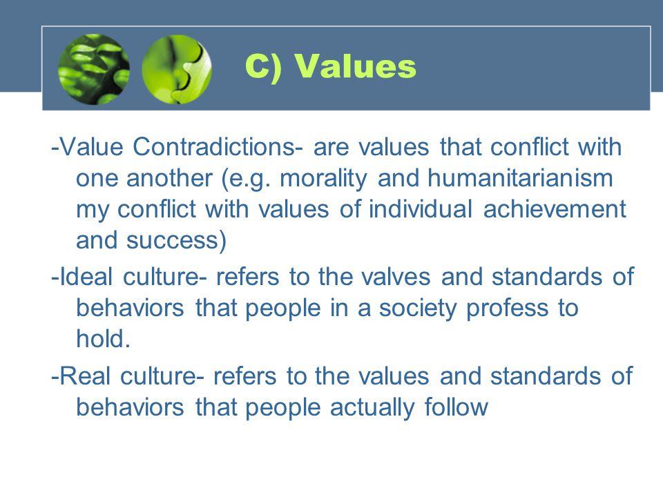 C) Values