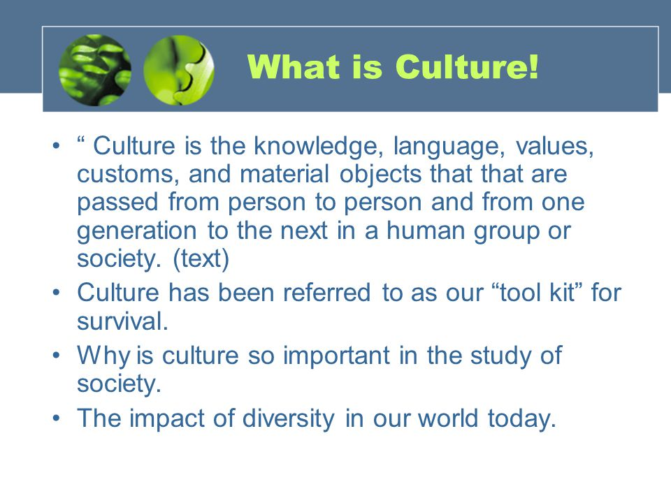 What is Culture!