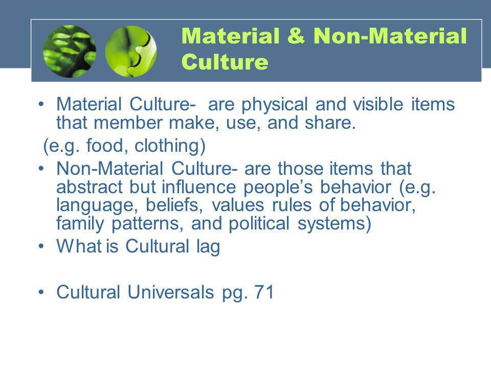 Material & Non-Material Culture