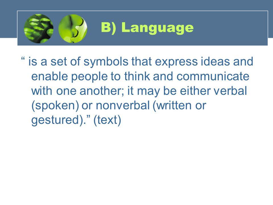 B) Language