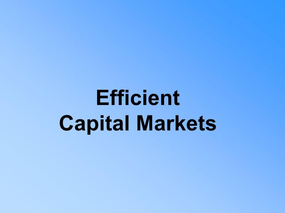 Efficient Capital Markets