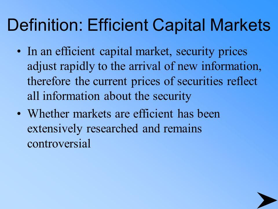 Definition: Efficient Capital Markets