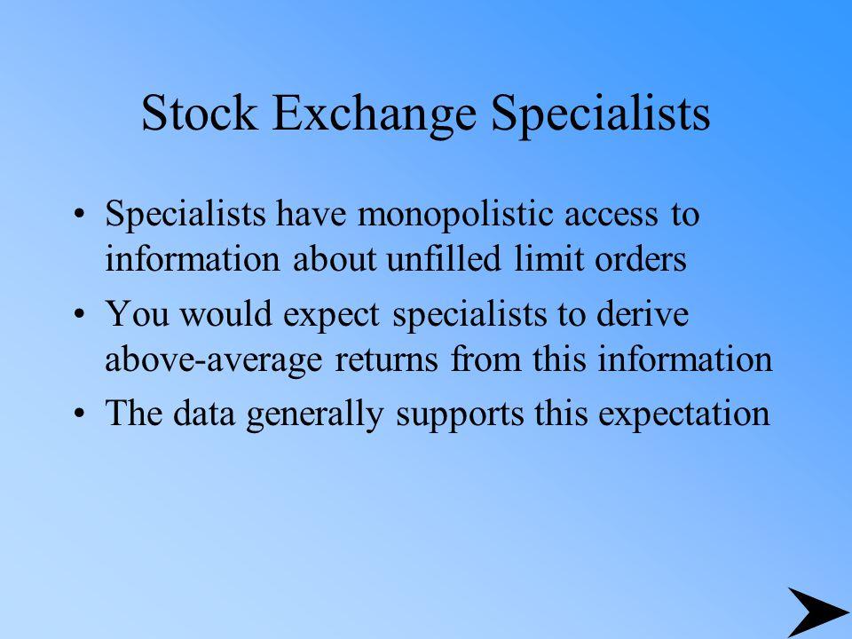 Stock Exchange Specialists