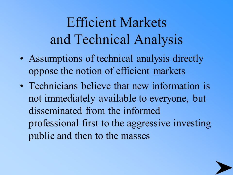 Efficient Markets and Technical Analysis