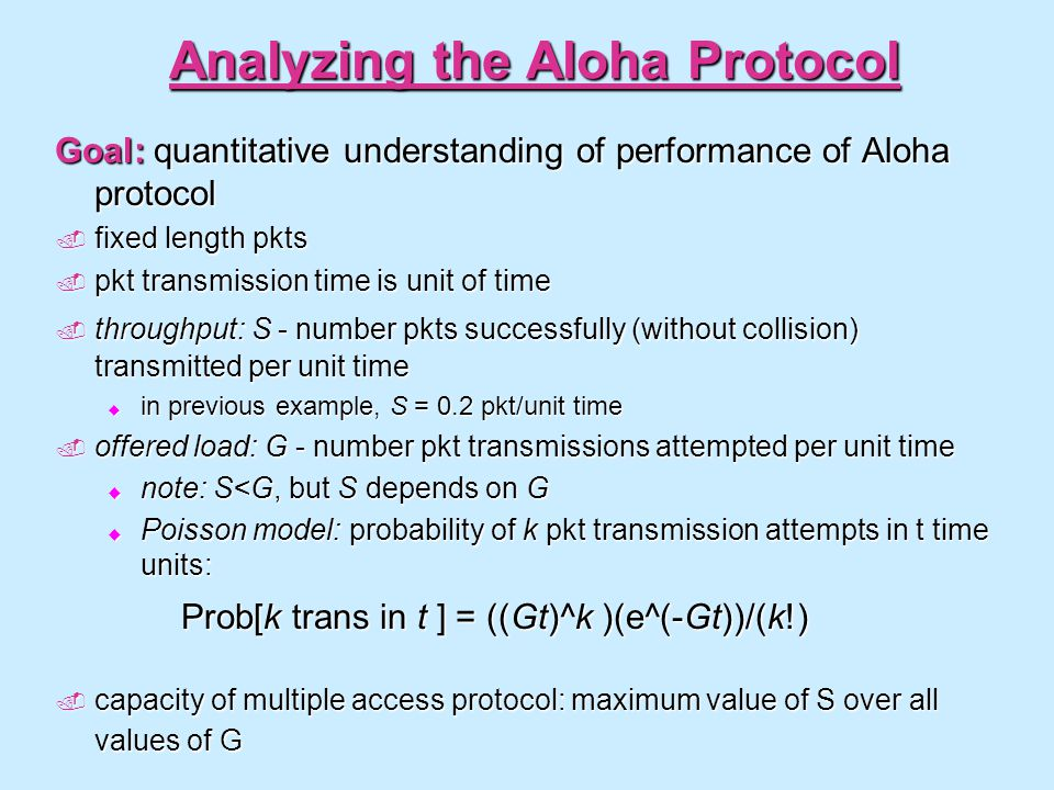 Analyzing the Aloha Protocol