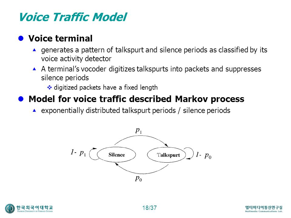 Voice Traffic Model Voice terminal
