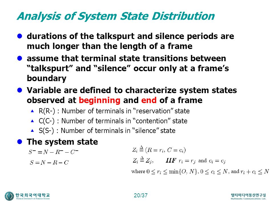 Analysis of System State Distribution