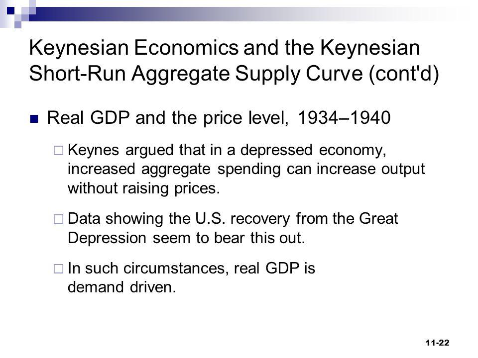 Keynesian Economics and the Keynesian Short-Run Aggregate Supply Curve (cont d)