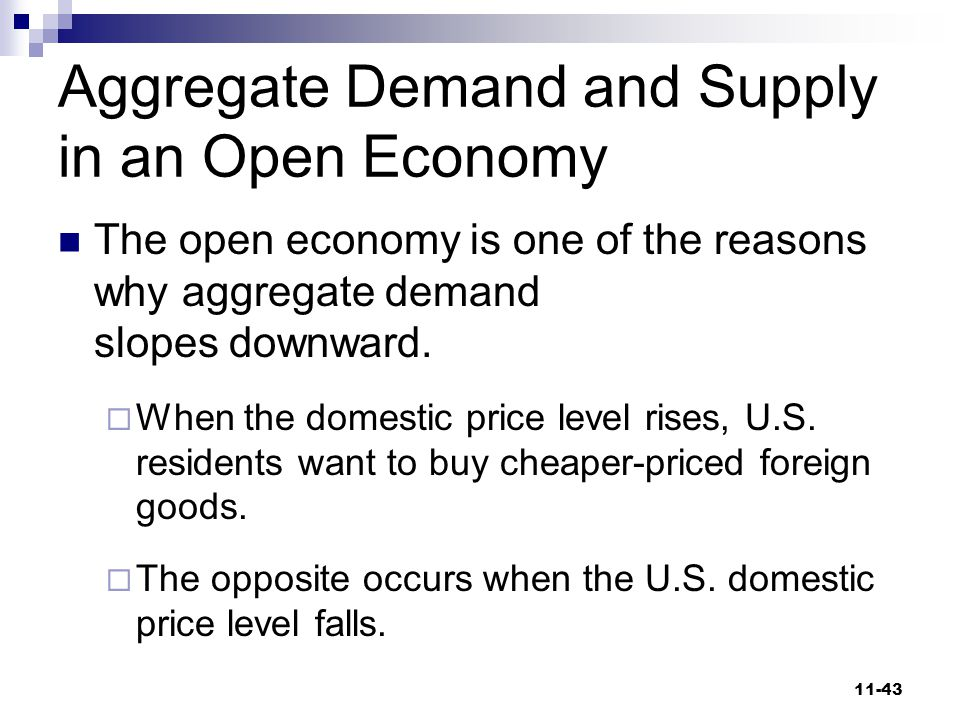 Aggregate Demand and Supply in an Open Economy