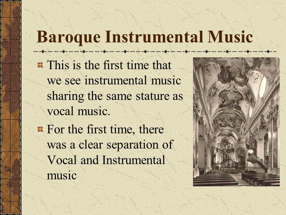 Baroque Instrumental Music