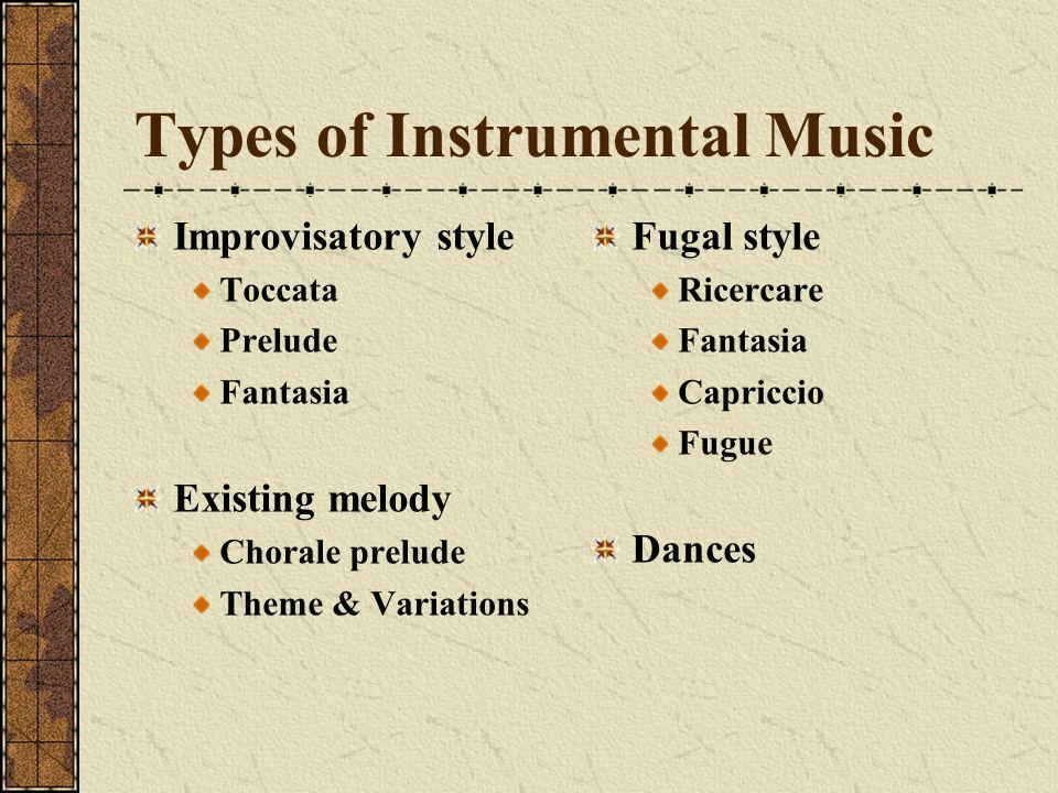 Types of Instrumental Music