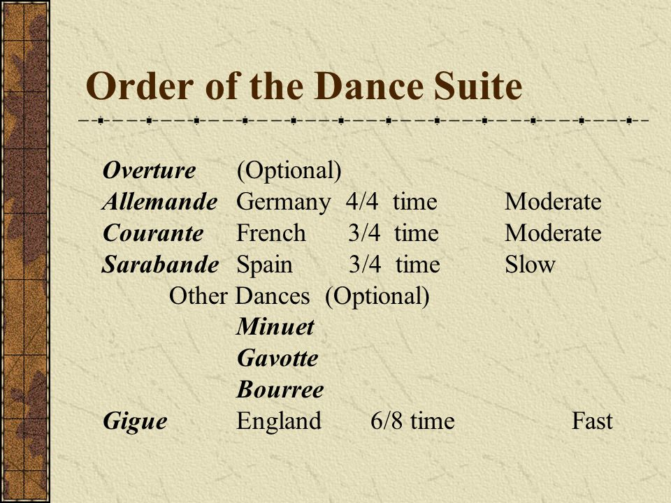 Order of the Dance Suite