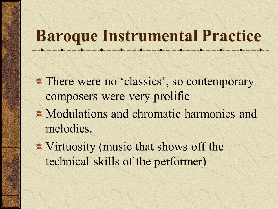 Baroque Instrumental Practice