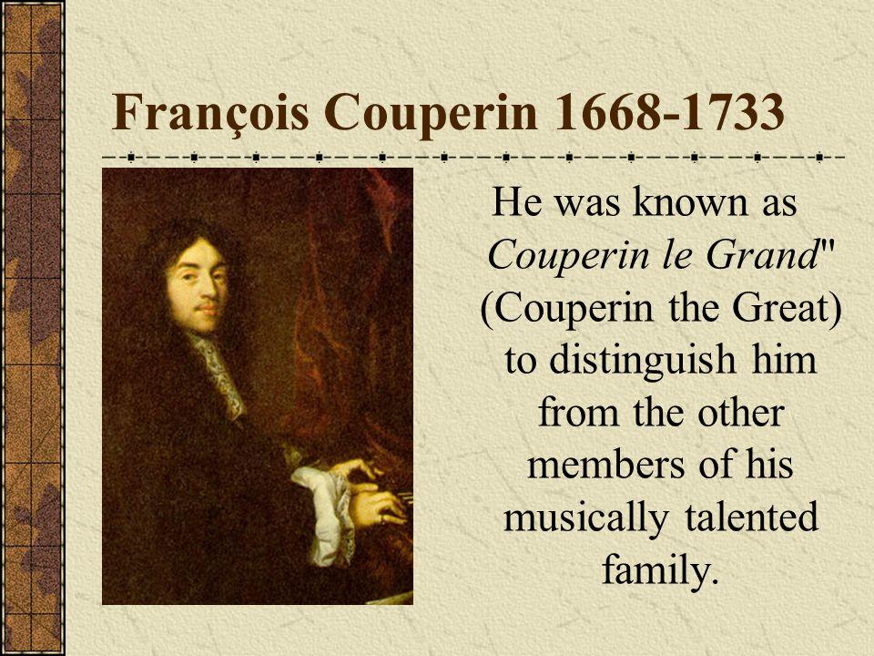François Couperin 1668-1733
