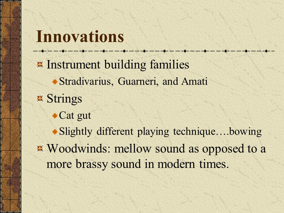 Innovations Instrument building families Strings