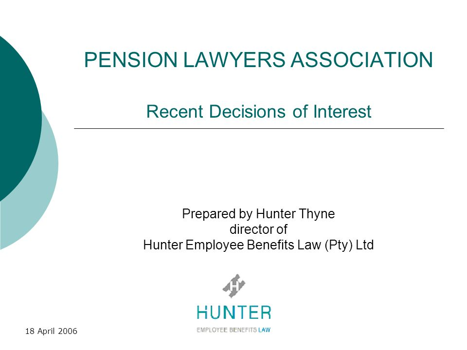 PENSION LAWYERS ASSOCIATION Recent Decisions of Interest
