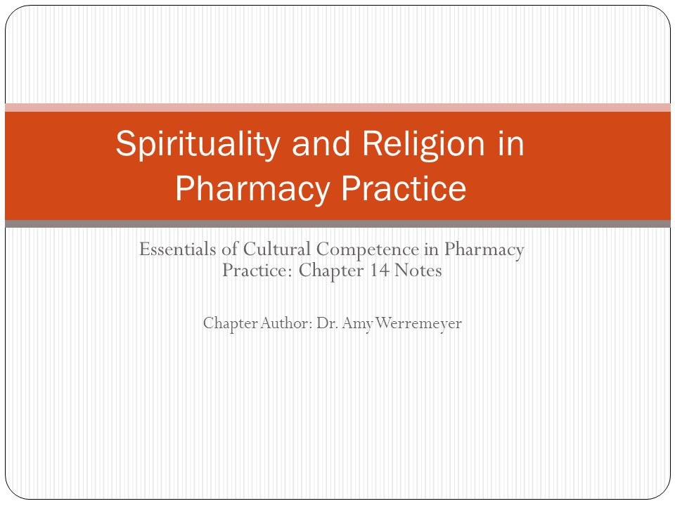 Spirituality and Religion in Pharmacy Practice