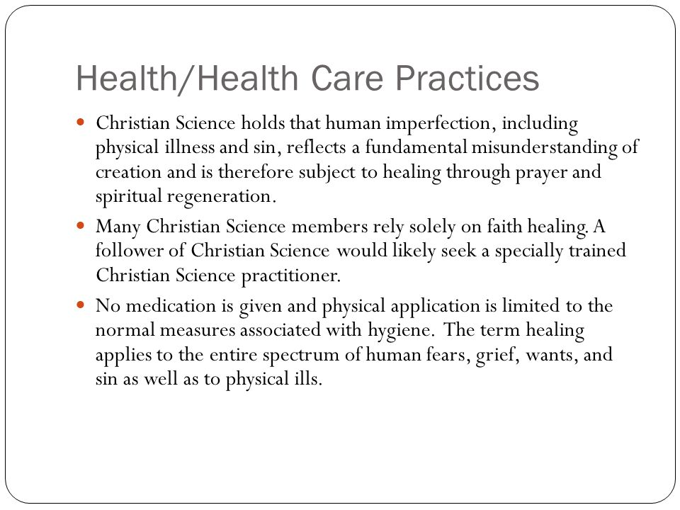 Health/Health Care Practices