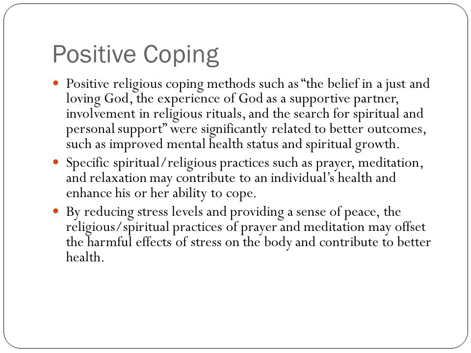 Positive Coping
