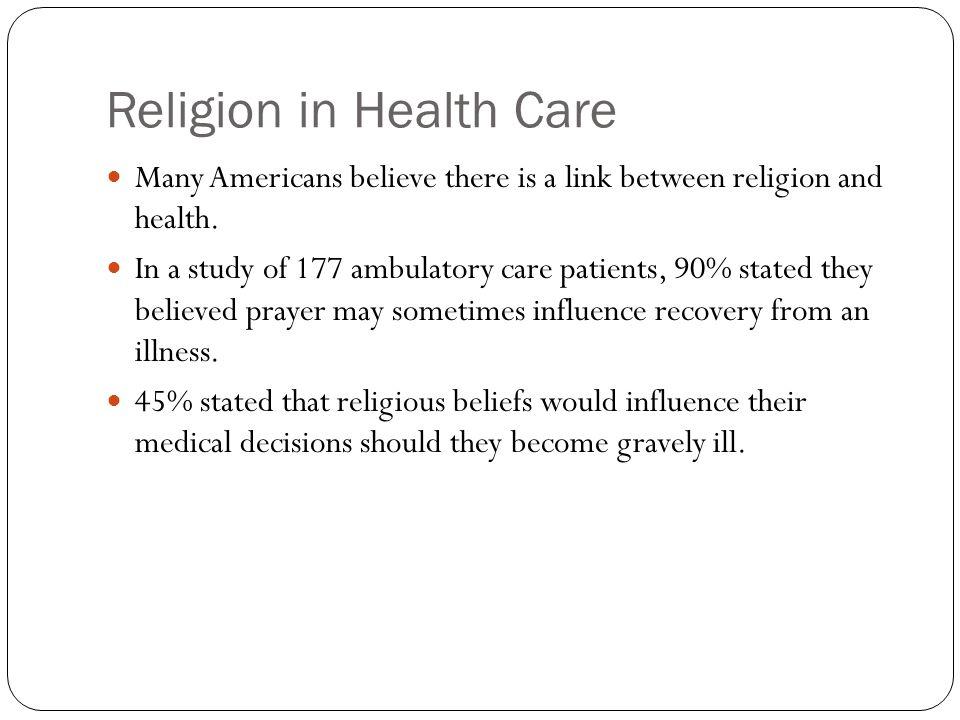Religion in Health Care
