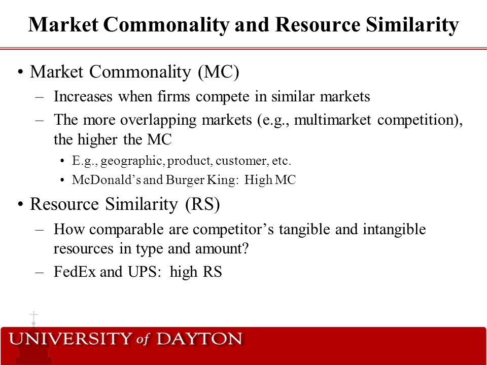 Market Commonality and Resource Similarity