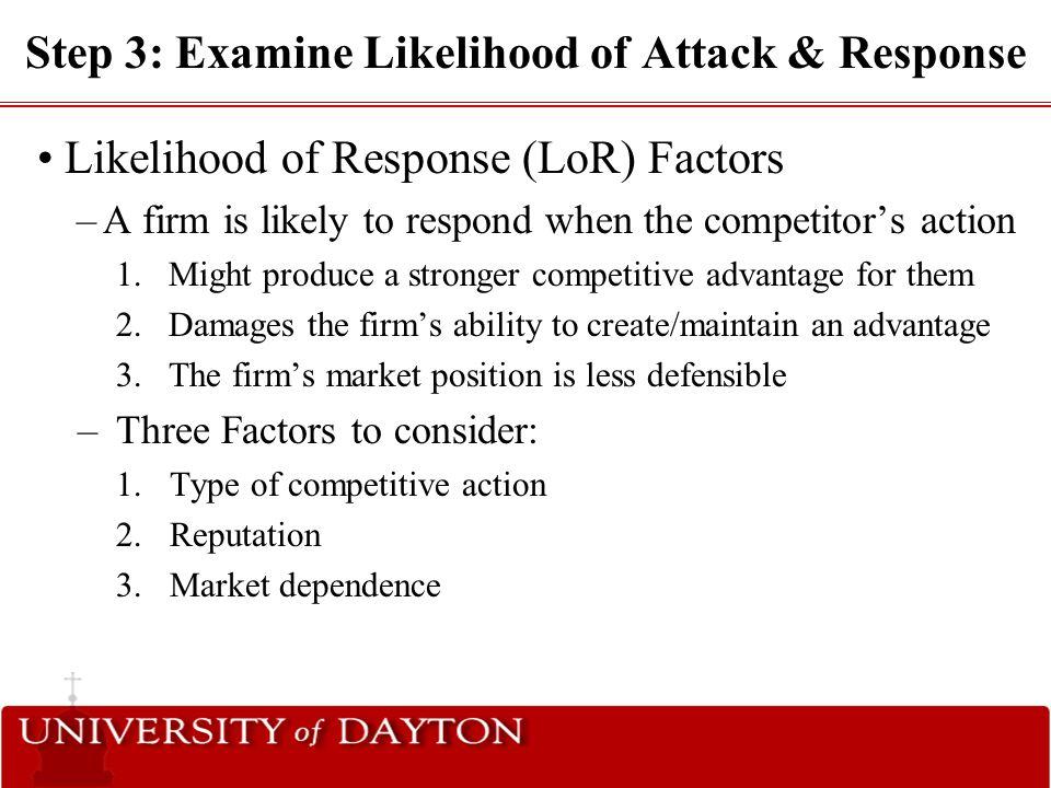 Step 3: Examine Likelihood of Attack & Response