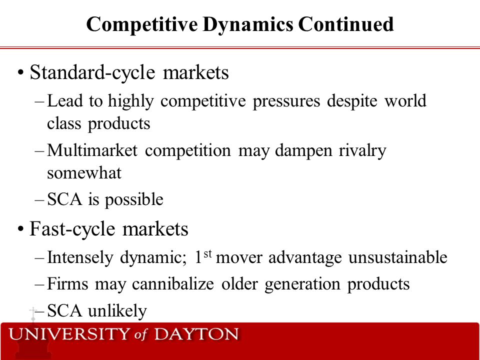Competitive Dynamics Continued