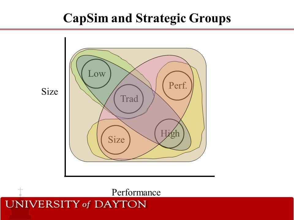 CapSim and Strategic Groups
