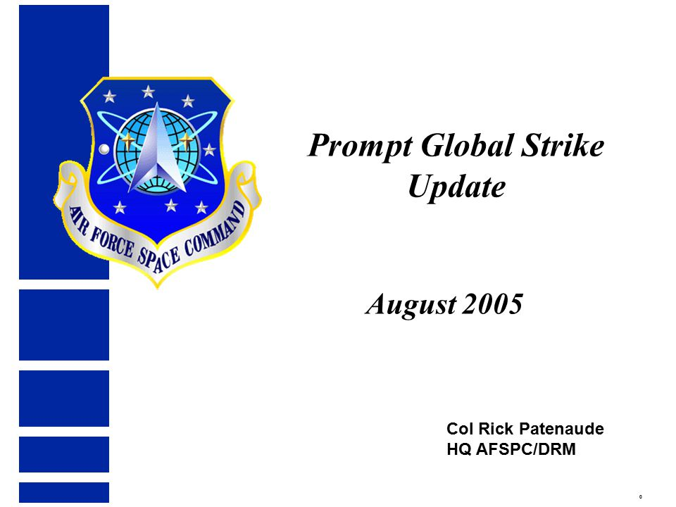 Overview National Guidance Prompt Global Strike Common Aero Vehicle