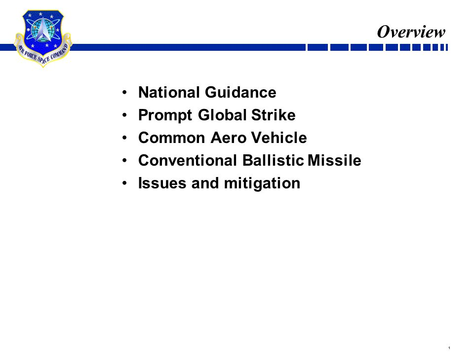 Guidance Quadrennial Defense Review Range Global Precision