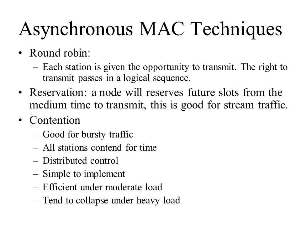 Asynchronous MAC Techniques