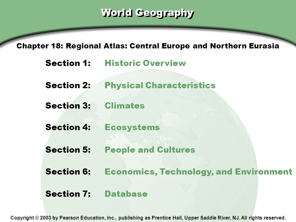 Chapter 18: Regional Atlas: Central Europe and Northern Eurasia