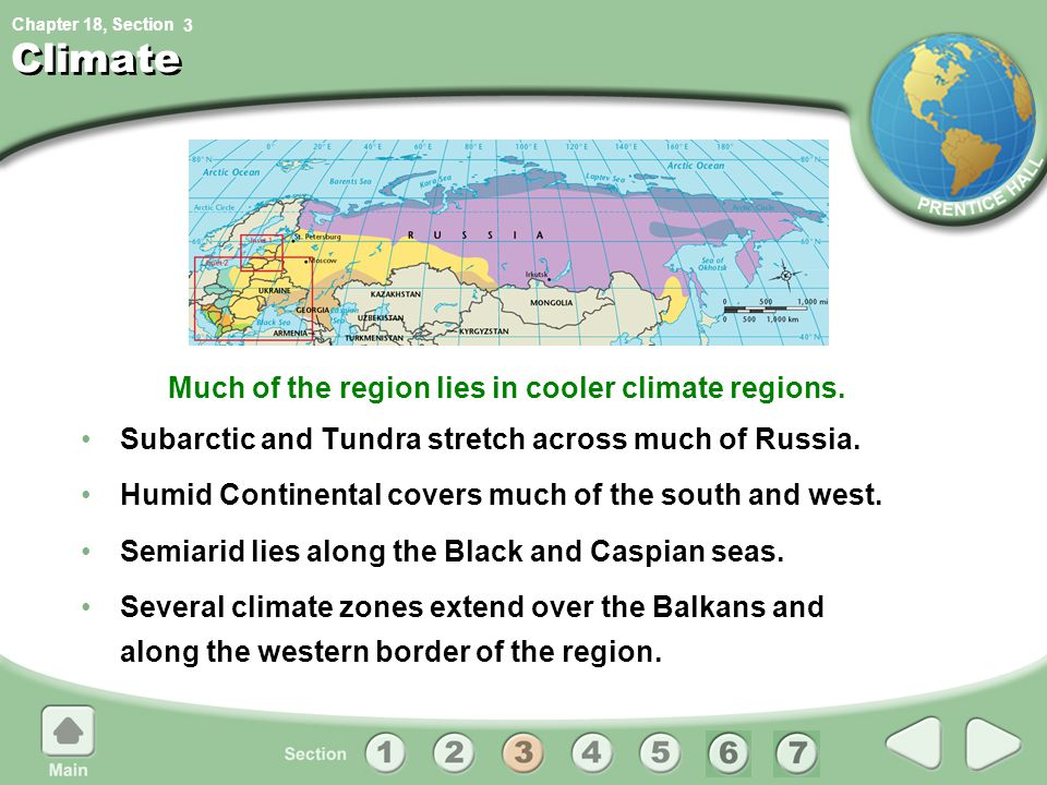 Much of the region lies in cooler climate regions.