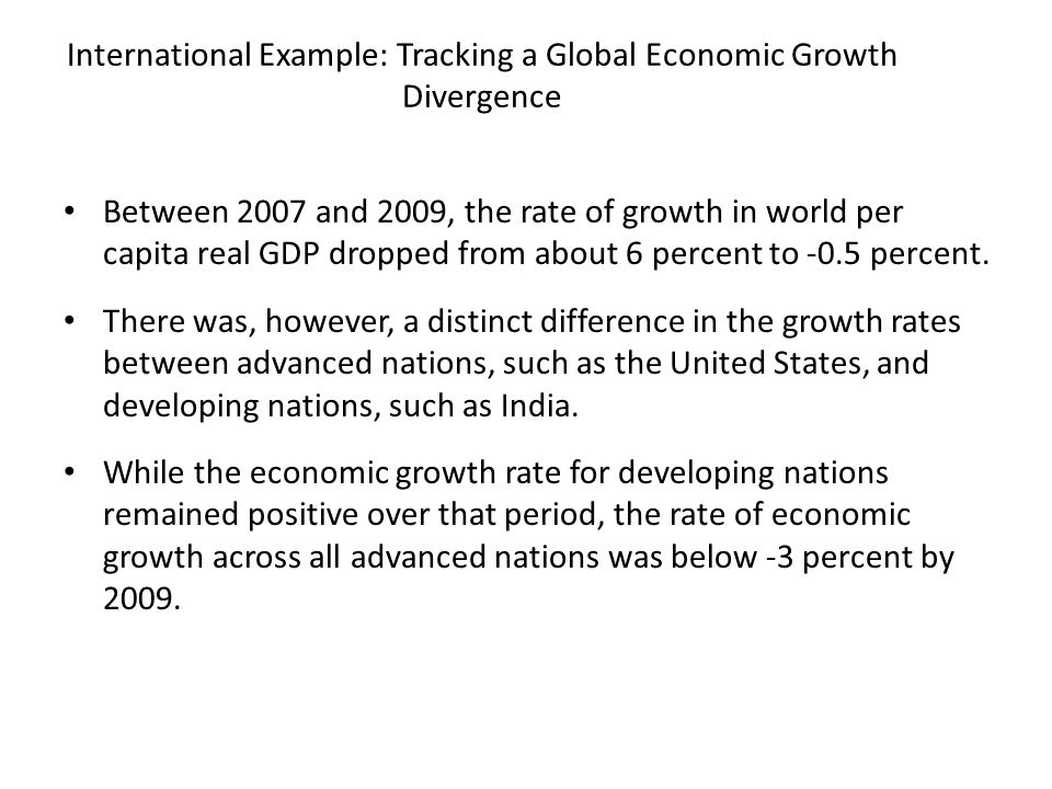 International Example: Tracking a Global Economic Growth Divergence
