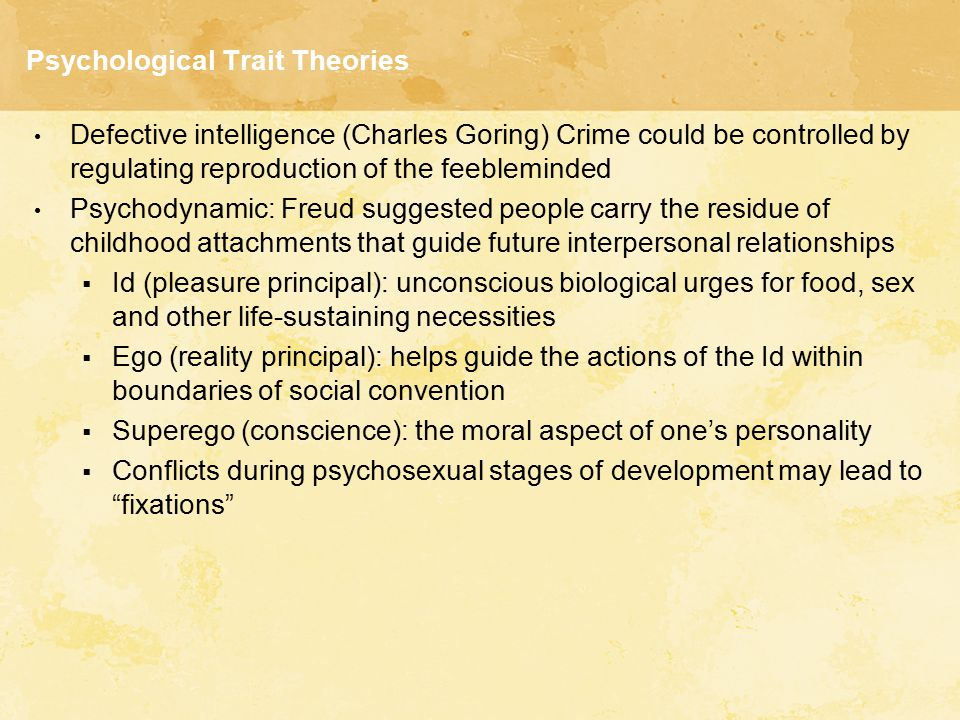 Psychological Trait Theories