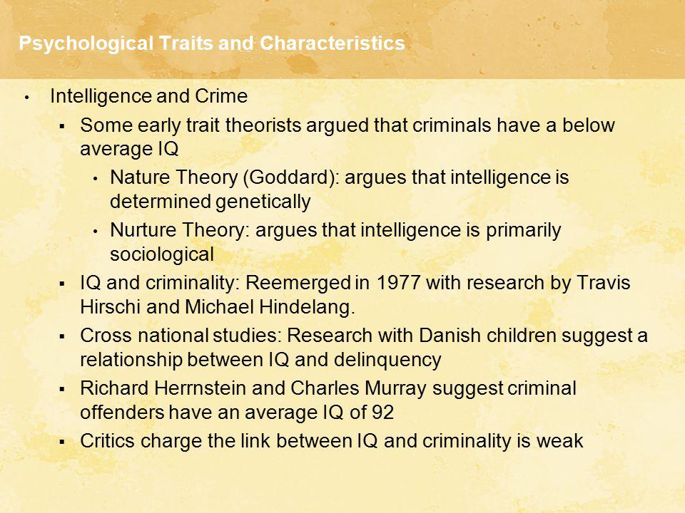 Psychological Traits and Characteristics