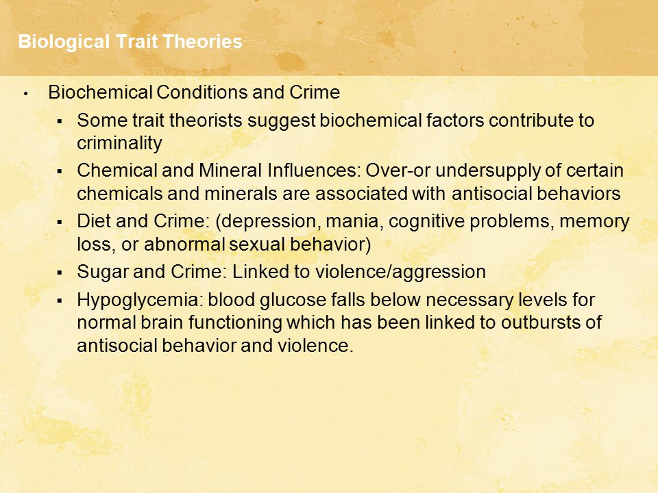 Biological Trait Theories