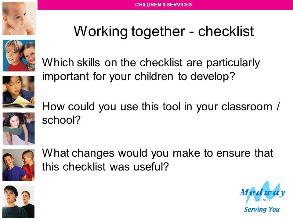 Working together - checklist