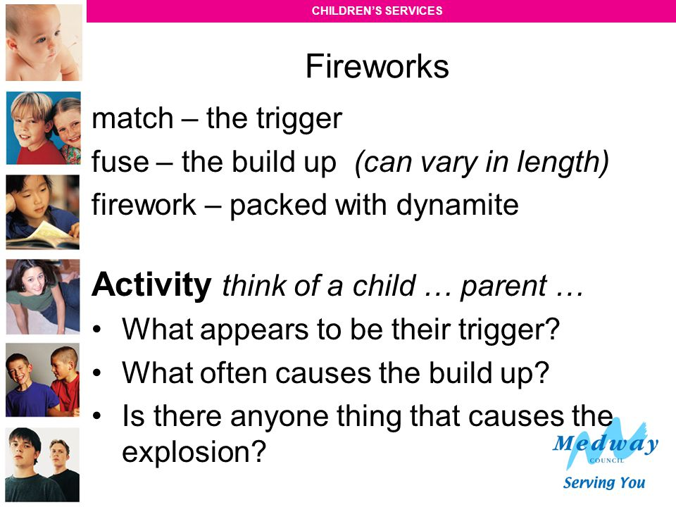 Activity think of a child … parent …
