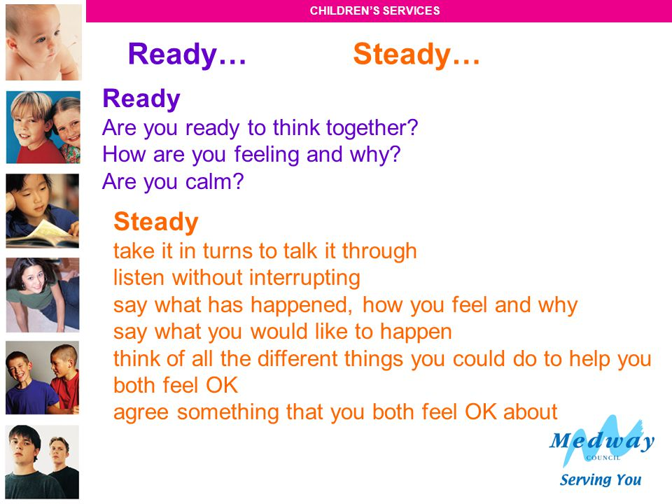 Ready… Steady… Ready Steady Are you ready to think together